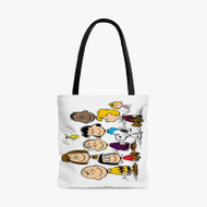 Snoopy Charlie Brown The Peanuts Custom Personalized Tote Bag Polyester with Small Medium Large Size