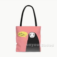 Spirited Away No Face Studio Ghibli Custom Personalized Tote Bag Polyester with Small Medium Large Size
