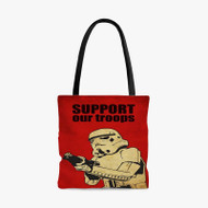 Stormtrooper Support Our Troops Custom Personalized Tote Bag Polyester with Small Medium Large Size