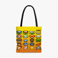 Super Mario Bros 16 Bit Custom Personalized Tote Bag Polyester with Small Medium Large Size