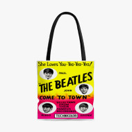 The Beatles Come To Town Custom Personalized Tote Bag Polyester with Small Medium Large Size