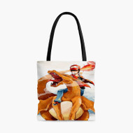 Charmander Ash Pokemon Anime Custom Personalized Tote Bag Polyester with Small Medium Large Size