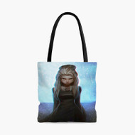 Dark Elsa Frozen Disney Custom Personalized Tote Bag Polyester with Small Medium Large Size