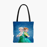Elsa and Anna Frozen Forever Custom Personalized Tote Bag Polyester with Small Medium Large Size