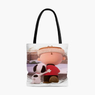 Friends Snoopy and Charlie Brown Custom Personalized Tote Bag Polyester with Small Medium Large Size