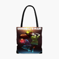 Frisk and Chara Undertale Custom Personalized Tote Bag Polyester with Small Medium Large Size