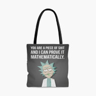 Rick and Morty Quotes Custom Personalized Tote Bag Polyester with Small Medium Large Size