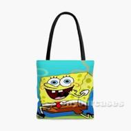 Spongebob Squarepants Custom Personalized Tote Bag Polyester with Small Medium Large Size