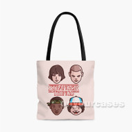 Stranger Things Custom Personalized Tote Bag Polyester with Small Medium Large Size