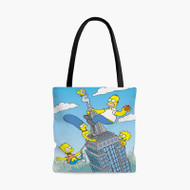 The City of New York vs Homer Simpson Custom Personalized Tote Bag Polyester with Small Medium Large Size