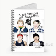 5 Seconds Of Summer Photo Custom Personalized Spiral Notebook Cover