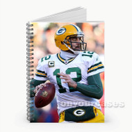 Aaron Rodgers Green Bay Packers Custom Personalized Spiral Notebook Cover