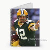 Aaron Rodgers Green Bay Packers Football Player Custom Personalized Spiral Notebook Cover
