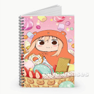 Himouto Umaru chan Eating Donuts Custom Personalized Spiral Notebook Cover