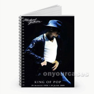 King of Pop Michael Jackson Custom Personalized Spiral Notebook Cover