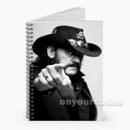 Lemmy Kilmister Motorhead Custom Personalized Spiral Notebook Cover