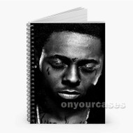 Lil Wayne Custom Personalized Spiral Notebook Cover
