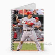Mike Trout Los Angeles Angels Custom Personalized Spiral Notebook Cover