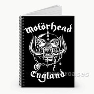Motorhead England Custom Personalized Spiral Notebook Cover