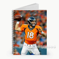 Peyton Manning Denver Broncos Custom Personalized Spiral Notebook Cover