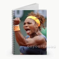 Serena Williams Celebrates Custom Personalized Spiral Notebook Cover