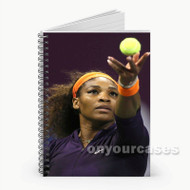 Serena Williams Serve Custom Personalized Spiral Notebook Cover