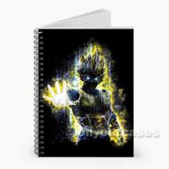 Vegeta The Saiyans Dragon Ball Z Custom Personalized Spiral Notebook Cover