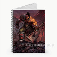 Warlords of Draenor World Of Warcraft Custom Personalized Spiral Notebook Cover