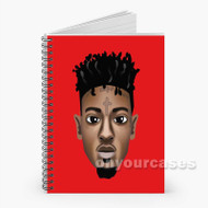 21 Savage 2 Custom Personalized Spiral Notebook Cover