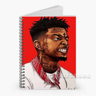 21 Savage Custom Personalized Spiral Notebook Cover