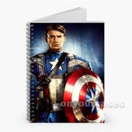 Captain America Custom Personalized Spiral Notebook Cover