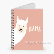 llama Custom Personalized Spiral Notebook Cover