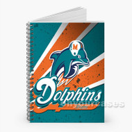 miami dolphins Custom Personalized Spiral Notebook Cover