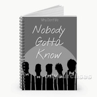 Why Don t We 3 Custom Personalized Spiral Notebook Cover