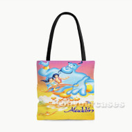 Disney Aladdin Jasmine and Genie Custom Personalized Tote Bag Polyester with Small Medium Large Size