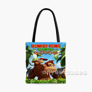 Donkey Kong Country Return Custom Personalized Tote Bag Polyester with Small Medium Large Size