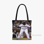 Justin Upton San Diego Padres Baseball Player Custom Personalized Tote Bag Polyester with Small Medium Large Size