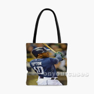 Justin Upton San Diego Padres Custom Personalized Tote Bag Polyester with Small Medium Large Size