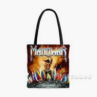 Manowar Kings Of Metal Custom Personalized Tote Bag Polyester with Small Medium Large Size