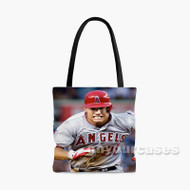 Mike Trout Los Angeles Angels Baseball Player Custom Personalized Tote Bag Polyester with Small Medium Large Size