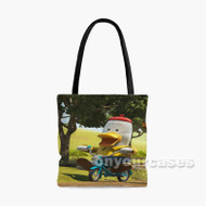 Noksu Cartoons Riding Bike Custom Personalized Tote Bag Polyester with Small Medium Large Size
