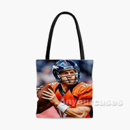 Peyton Manning Denver Broncos Football Player Custom Personalized Tote Bag Polyester with Small Medium Large Size
