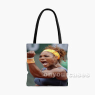 Serena Williams Celebrates Custom Personalized Tote Bag Polyester with Small Medium Large Size
