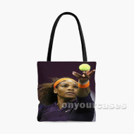 Serena Williams Serve Custom Personalized Tote Bag Polyester with Small Medium Large Size