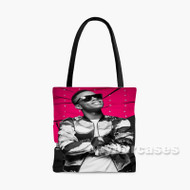 Silento Glasses Custom Personalized Tote Bag Polyester with Small Medium Large Size