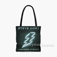 Steve Aoki Lightning Strikes Custom Personalized Tote Bag Polyester with Small Medium Large Size