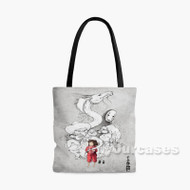 Studio Ghibli Spirited Away Custom Personalized Tote Bag Polyester with Small Medium Large Size