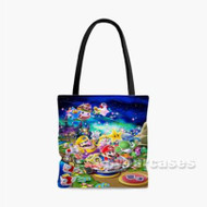 Super Mario Kart Custom Personalized Tote Bag Polyester with Small Medium Large Size