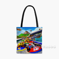 Super Mario Kart Games Custom Personalized Tote Bag Polyester with Small Medium Large Size