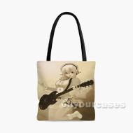 Super Sonico With Guitar Custom Personalized Tote Bag Polyester with Small Medium Large Size